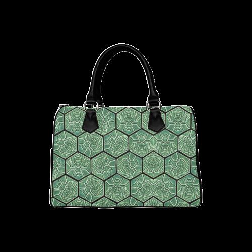 Bees rule abstract pattern Boston Handbag (Model 1621)