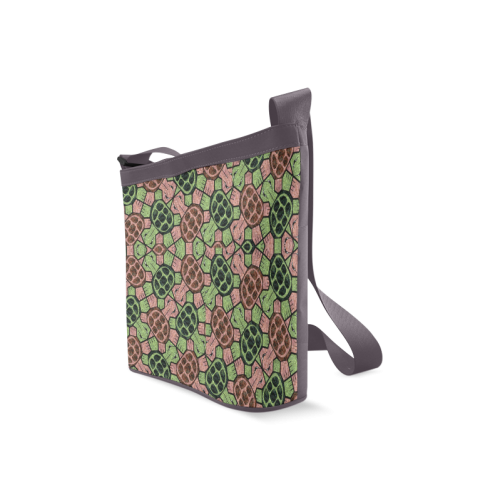 Abstract pattern turtle rules Crossbody Bags (Model 1613)
