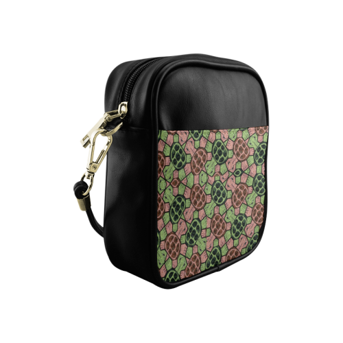 Abstract pattern turtle rules Sling Bag (Model 1627)