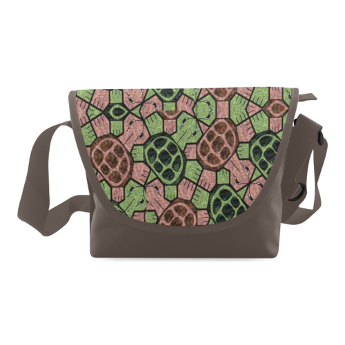 Abstract pattern turtle rules Crossbody Bag/Large (Model 1631)
