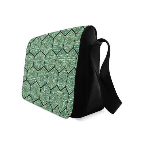 Bees rule abstract pattern Messenger Bag (Model 1628)