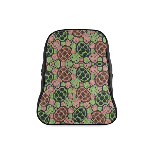Abstract pattern turtle rules School Backpack/Large (Model 1601)
