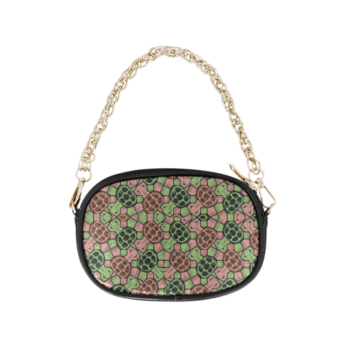 Abstract pattern turtle rules Chain Purse (Model 1626)