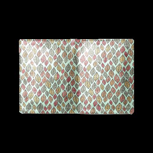 Beautiful leaf color Men's Leather Wallet (Model 1612)