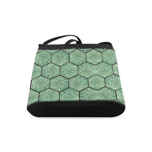 Bees rule abstract pattern Crossbody Bags (Model 1613)