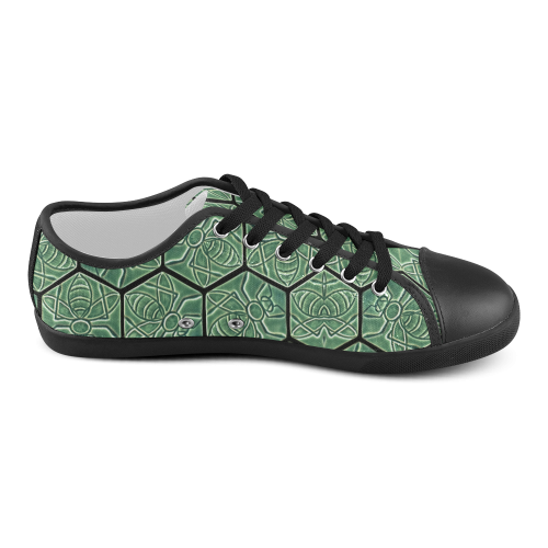 Bees rule abstract pattern Women's Canvas Shoes (Model 016)