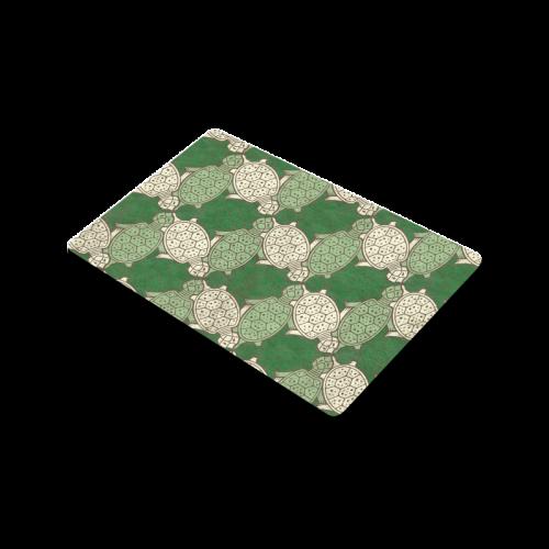 "Turtle abstract pattern Doormat 30""x18"""