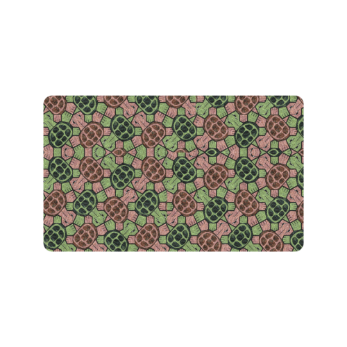 """Abstract pattern turtle rules Doormat 30""""x18"""""""