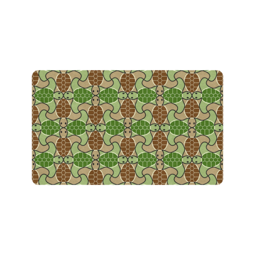 "Cute turtle abstract pattern Doormat 30""x18"""