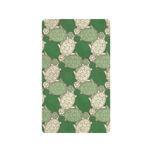 "Turtle abstract pattern Doormat 30""x18"""