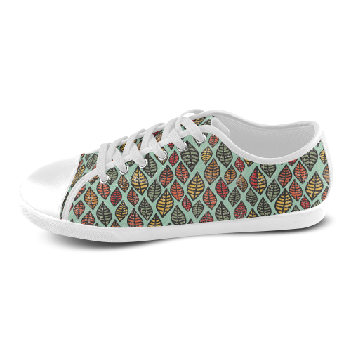 Beautiful leaf color Women's Canvas Shoes (Model 016)