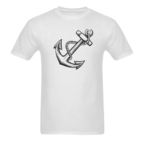 Simple Anchor Tattoo Designs Popular Sale Sunny Men S T Shirt