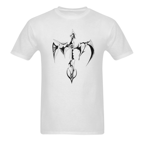 Artsadd Custom Tribal Cross Tattoo Designs Sunny Men's T- shirt (Model T06)