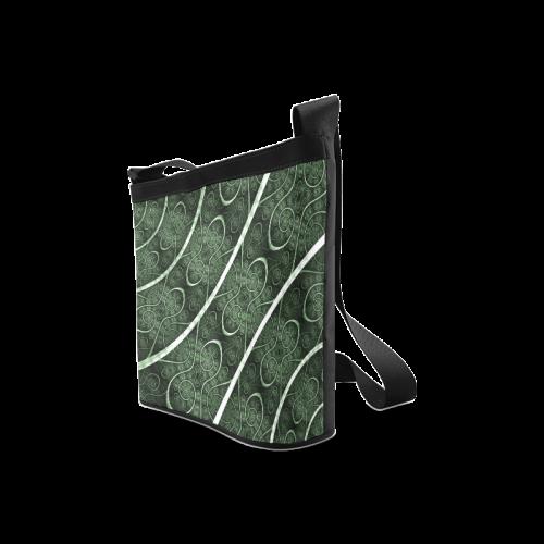 Beautiful curve texture pattern Crossbody Bags (Model 1613)