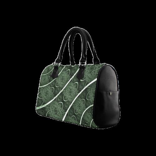 Beautiful curve texture pattern Boston Handbag (Model 1621)