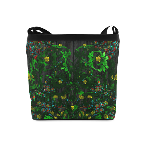 Abstract floral pattern Crossbody Bags (Model 1613)