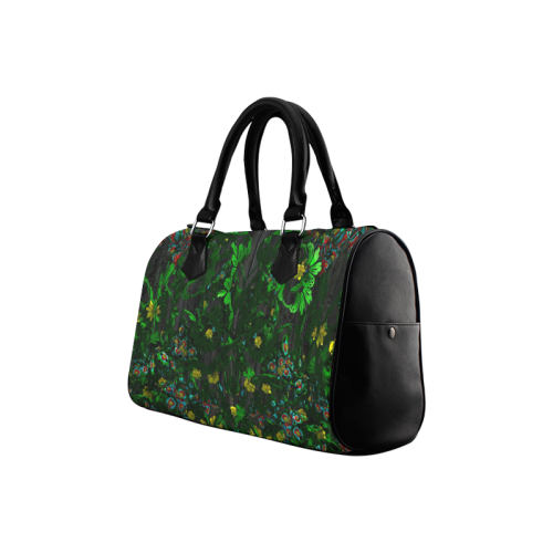Abstract floral pattern Boston Handbag (Model 1621)