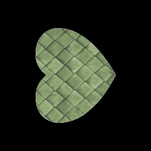 Green texture pattern Heart-shaped Mousepad