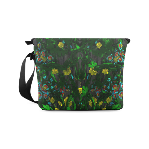 Abstract floral pattern Crossbody Bag/Large (Model 1631)