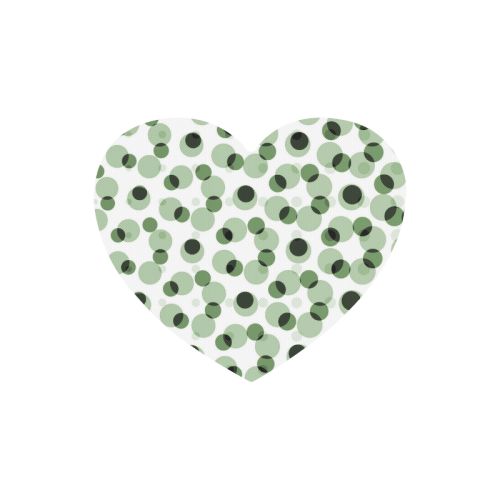 Green geometric circular pattern Heart-shaped Mousepad
