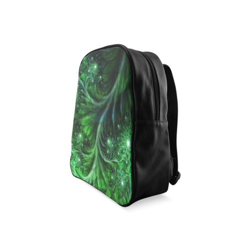 Beautiful plant leaf texture School Backpack/Large (Model 1601)