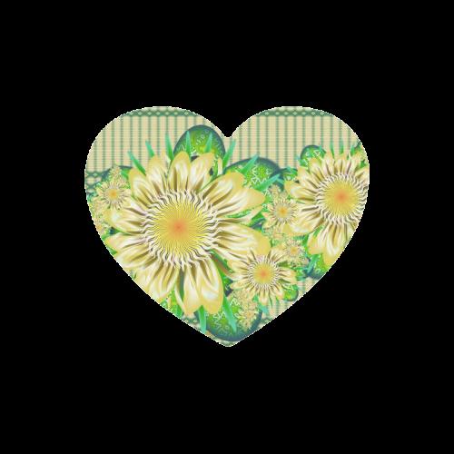 Realism beautiful flower pattern Heart-shaped Mousepad
