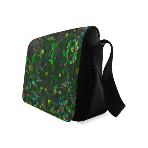 Abstract floral pattern Messenger Bag (Model 1628)