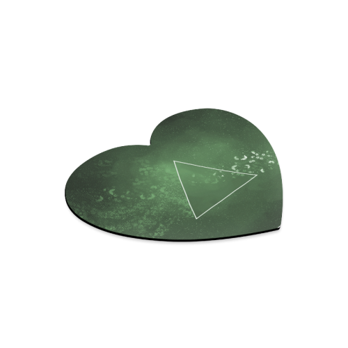 Butterfly and Geometry Heart-shaped Mousepad