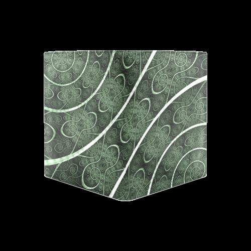 Beautiful curve texture pattern Men's Leather Wallet (Model 1612)