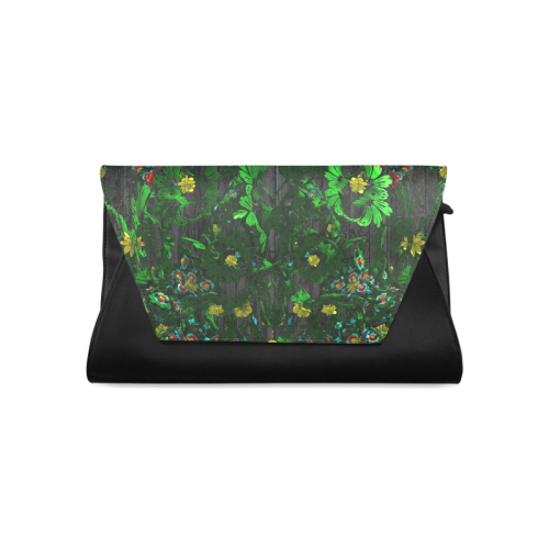 Abstract floral pattern Clutch Bag (Model 1630)