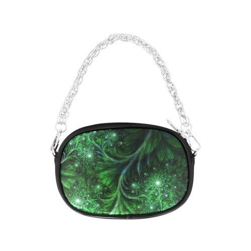 Beautiful plant leaf texture Chain Purse (Model 1626)