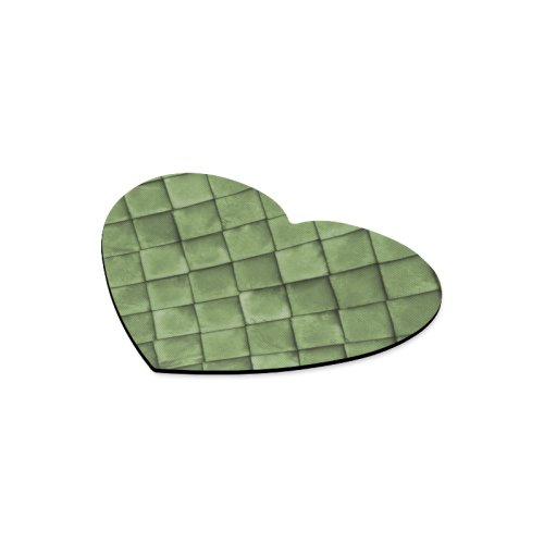 Green texture pattern Heart-shaped Mousepad