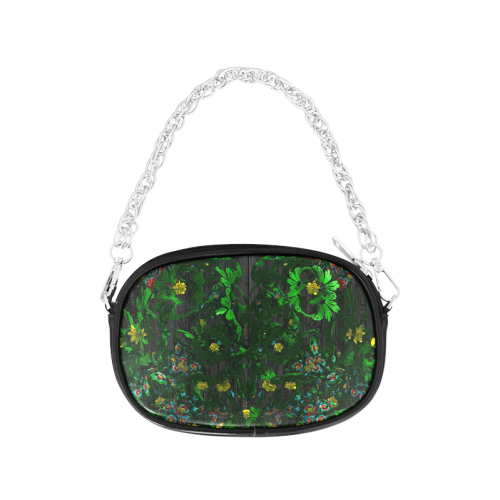 Abstract floral pattern Chain Purse (Model 1626)
