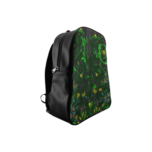 Abstract floral pattern School Backpack/Large (Model 1601)