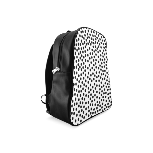 Black Polka Dot Design School Backpack/Large (Model 1601)