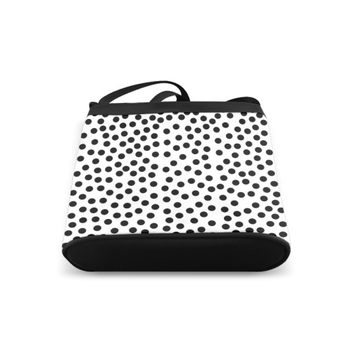 Black Polka Dot Design Crossbody Bags (Model 1613)