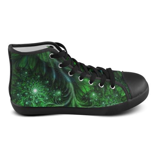 Beautiful plant leaf texture Women's High Top Canvas Shoes (Model 002)