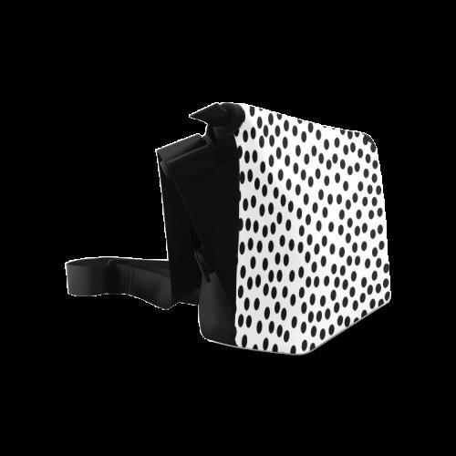 Black Polka Dot Design Crossbody Bag/Large (Model 1631)