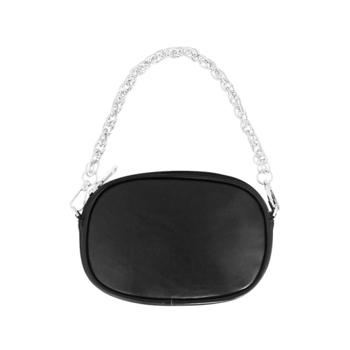 Black Polka Dot Design Chain Purse (Model 1626)