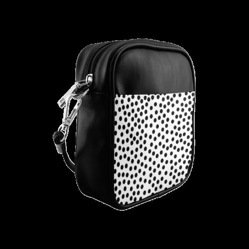 Black Polka Dot Design Sling Bag (Model 1627)
