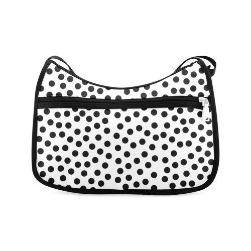 Black Polka Dot Design Crossbody Bags (Model 1616)