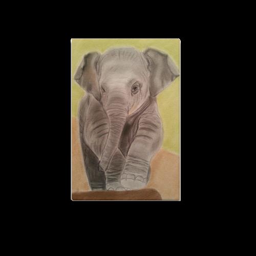 """Baby Elephant Canvas Print Canvas Print 12""""x18"""""""