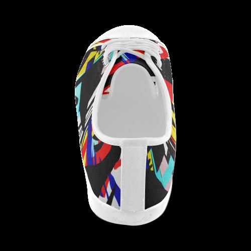 Beautiful illustrations Women's Canvas Shoes (Model 016)