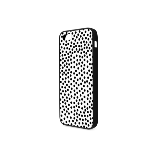 Black Polka Dot Design Rubber Case for iPhone 5/5s