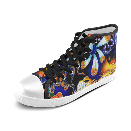 Art Girl Women's High Top Canvas Shoes (Model 002)