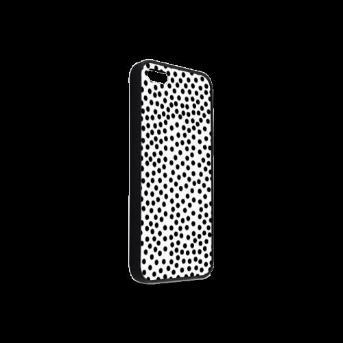 Black Polka Dot Design Rubber Case for iPhone 5/5s