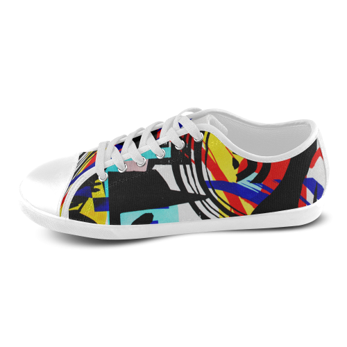 Beautiful illustrations Women's Canvas Shoes (Model 016)