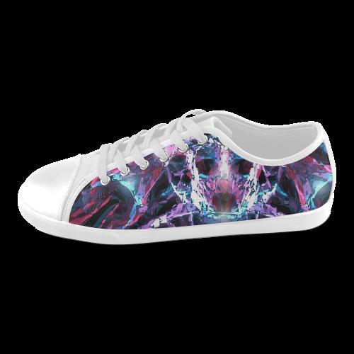 Abstr Women's Canvas Shoes (Model 016)