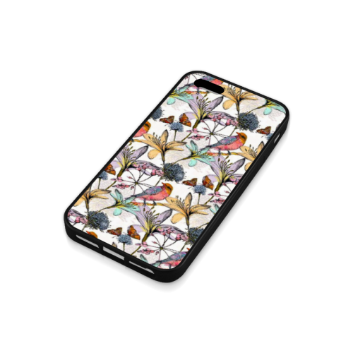 Beautiful flowers Rubber Case for iPhone 5/5s