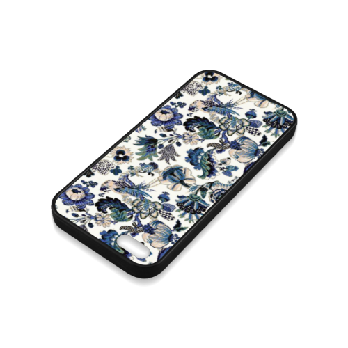 Blue porcelain Rubber Case for iPhone 5/5s